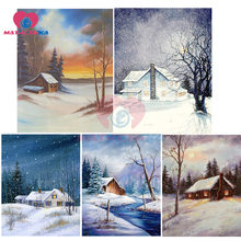 diamond mosaic embroidery home decoration accessories painting nature snow landscape diamont needlework
