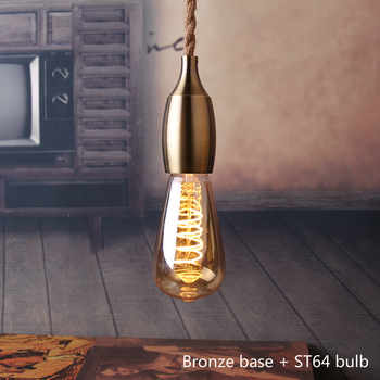 Nordic Hemp Rope Pendant Lights Fixture E27 LED Modern Creative Hanging Lamp Industrial Retro Lampen DIY for Bedroom Living Room
