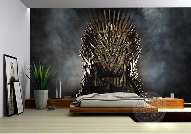 photo wallpaper picture more detailed picture about of thrones wallpaper iron throne wall
