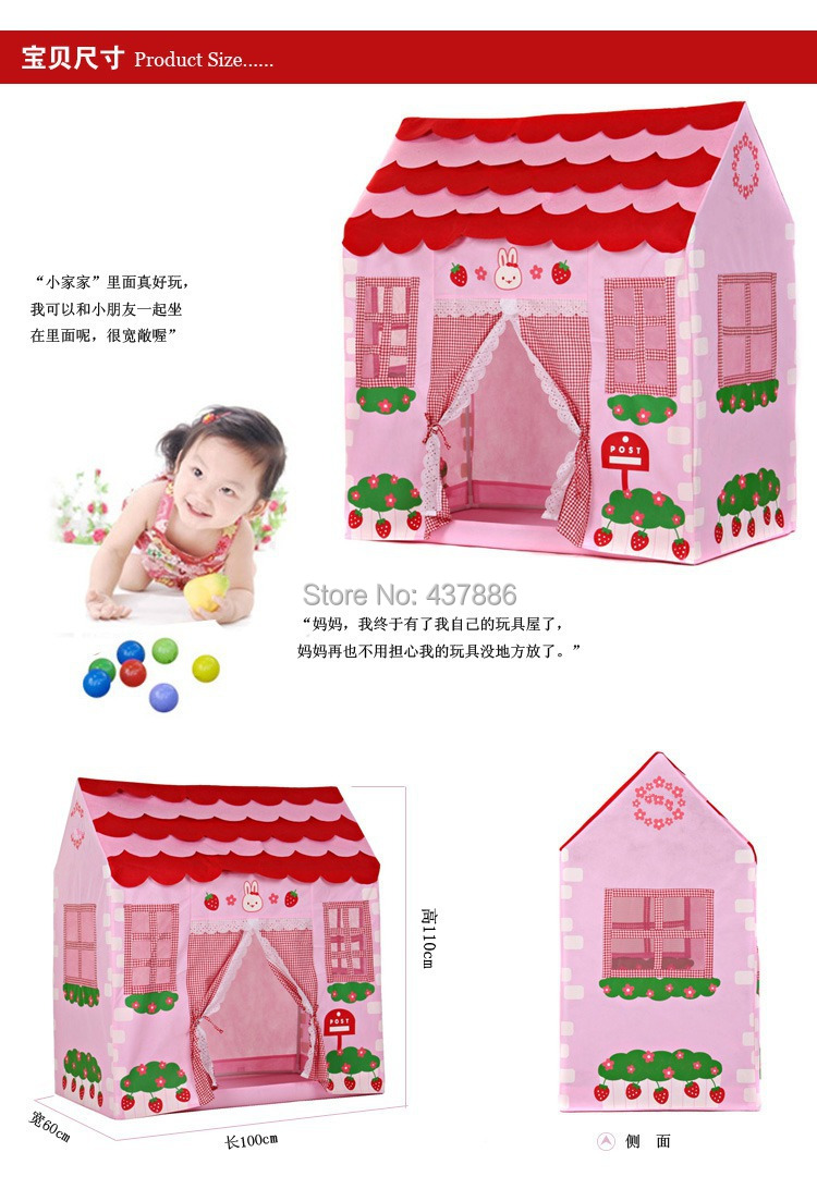 Children large baby play tenda infantil dollhouse blue and pink princess cloth small house tents for kids-in Toy Tents from Toys u0026 Hobbies on Aliexpress.com ...  sc 1 st  AliExpress.com & Children large baby play tenda infantil dollhouse blue and pink ...