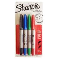 4 ألوان/الكثير شربي الدائم ماركر القلم التوأم تلميح الجميلة علامات الحبر السلس الكتابة cd ماركر pennarello سريعة الجافة