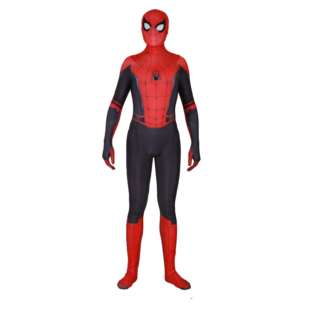 2019 New Spider-Man: Far From Home SpiderMan Cosplay Bodysuit Halloween Costume