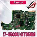 Akemy X756UX MAIN_BD./I7-6500U GTX950M-4GB Mainboard Für Asus X756U X756UXM K756U X756UB laptop motherboard test ok DDR3