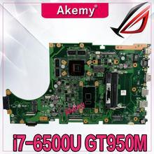 Akemy X756UX MAIN_BD./I7-6500U GTX950M-4GB Материнская плата Asus X756U X756UXM K756U X756UB ноутбук материнская плата Тест проведен DDR3
