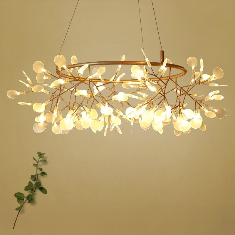 Creative Art Designer Chandelier Lights Tree Leaf Vintage D80cm LED Lamps Fixtures By Bertjan Pot Suspension Lamp Home Lighting