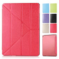 4 Shapes Ultra Thin Silk Smart PU Leather Cover Stand for Apple iPad Air 2 Translucent Case for iPad 6 Auto Wake/Sleep