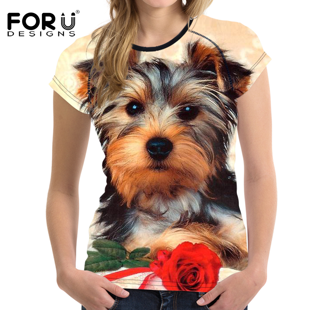 FORUDESIGNS Super Cute Chihuahua Camisetas Mujer Summer Tops - Ropa de mujer - foto 2