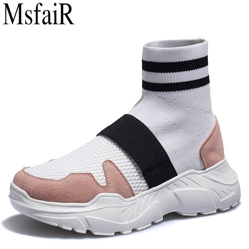 MSFSIR Women's Running Shoes Height Increasing Women Sport Shoes Woman Brand Athletic Walking Breathable Ladies Sneakers