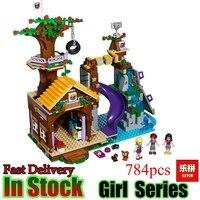 Lepin 01047 الأصدقاء 784 قطع في مغامرة مخيم شجرة منزل جيدة الفتيات نموذج اللبنات الطوب ألعاب تعليمية الهدايا 41122