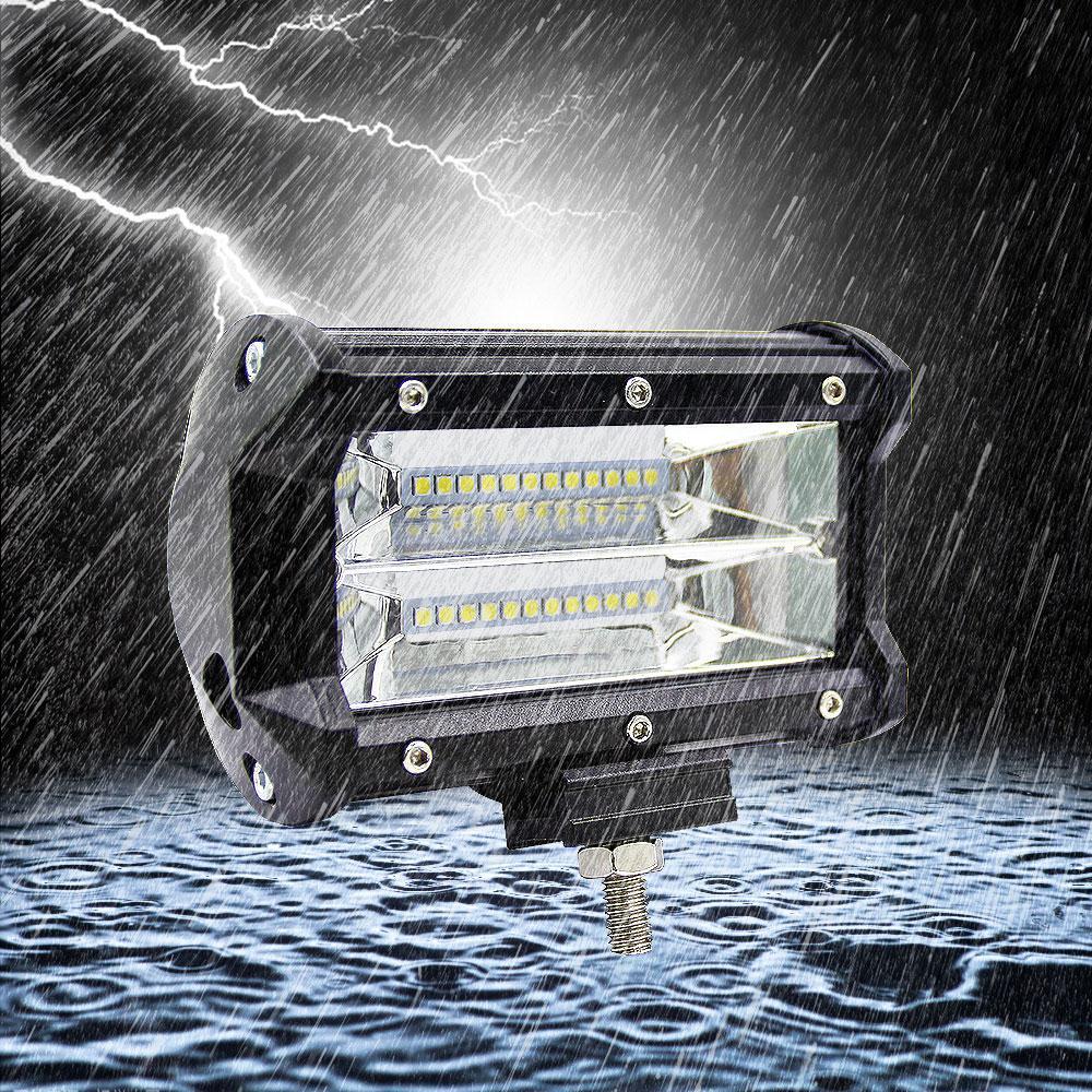 VEHEMO 5 Inches 72W Universal LED Spotlight Worklight Driving Light ... for Truck Light Texture  165jwn