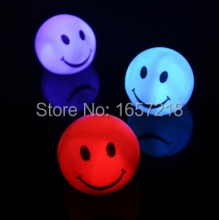 Night light Lovely changable color Round Smile Face LED