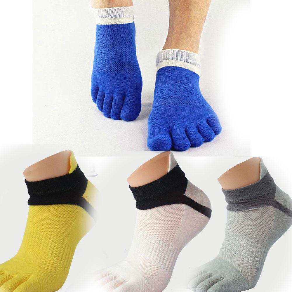 1 Pair Cotton Sports Five Finger Socks Breathable Toe Socks Design Men's Comfortable Sock Sport Clothing Accessories