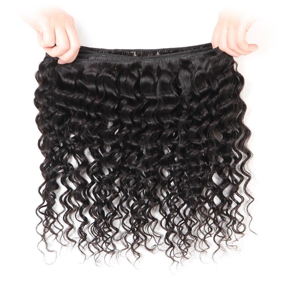 HTB1NYXRiAUmBKNjSZFOq6yb2XXau AliPearl Hair Deep Wave Bundles With Lace Closure Human Hair Brazilian Hair Weave 3 Bundles With Closure Remy Hair Extension