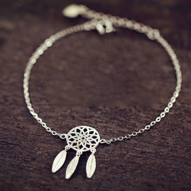 New Fashion Gold Silver Plated Dreamcatcher Charm Bracelets For Women Dream Catcher Jewelry