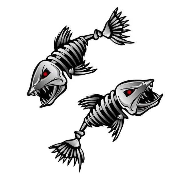 CNSPEED 1 Pair Car Stickers Occlusion Nicks Cover Shark Fishing Master Terror