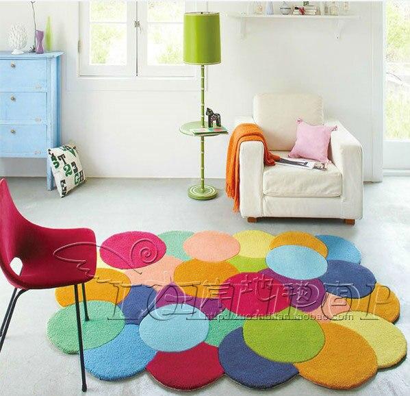 Estilo europeu handmade moda acr lico colorido tapetes - Tappeti colorati ...