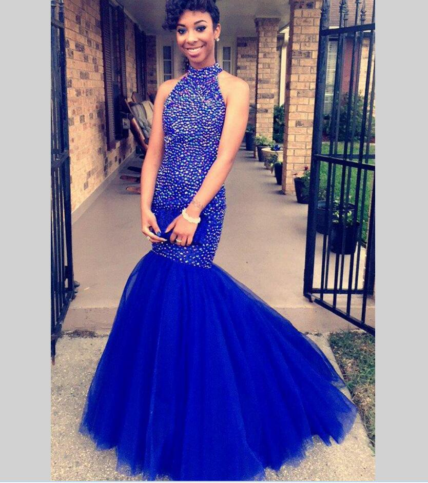 Aliexpress.com : Buy Luxury Beaded Mermaid Black Girl Prom Dress ...