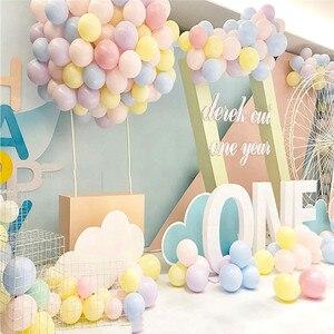 Image 5 - 30/50 Uds. De 5 globos de macarrón de látex para decoraciones para fiesta de cumpleaños, baby shower, boda, grandes suministros para eventos