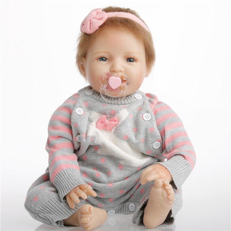 SanyDoll 22 inch 55 cm Silicone baby reborn dolls, lifelike Fashion Cute holiday gift of a smiling faceSanyDoll 22 inch 55 cm Silicone baby reborn dolls, lifelike Fashion Cute holiday gift of a smiling face