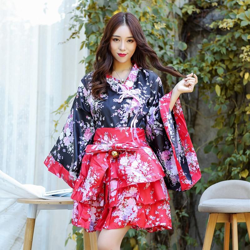 Japanese Dressing Gown: Women's Sexy Sakura Anime Costume Japanese Kimono Costume