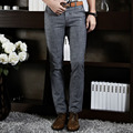 2016 Formales de La Boda de Los Hombres Traje de Pantalones de Moda Slim Fit Casual Brand Pantalones de Vestir de Negocios Blazer Recta FNM1003