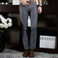 2015 Formal Wedding Men Suit Pants Fashion Slim Fit Casual Brand Business Blazer Straight Dress Trousers