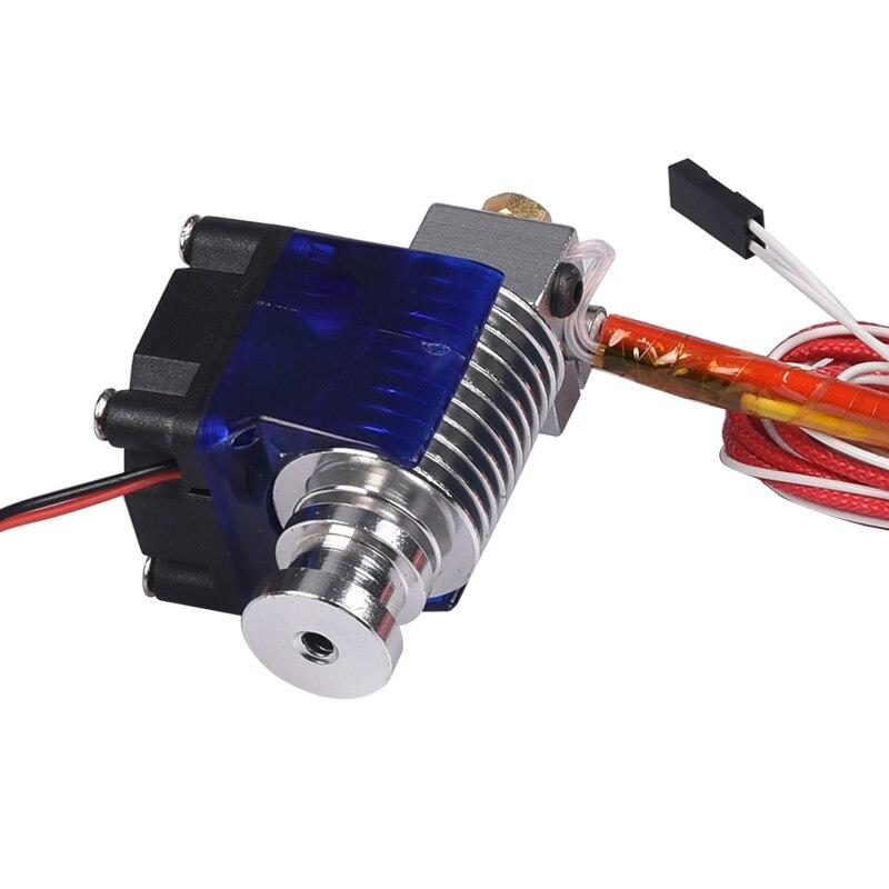 3D V6 3D Imprimante j-tête Hotend avec Ventilateur De Refroidissement Unique pour 1.75mm/3.0mm Directe Filament Wade Extrudeuse 0.3/0.4/0.5mm Buse