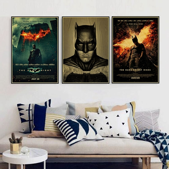 787bed03defa0 Vintage DC Comics Batman Joker HD Movie Poster Retro Kraft Paper Bar Cafe  Home Decor Painting