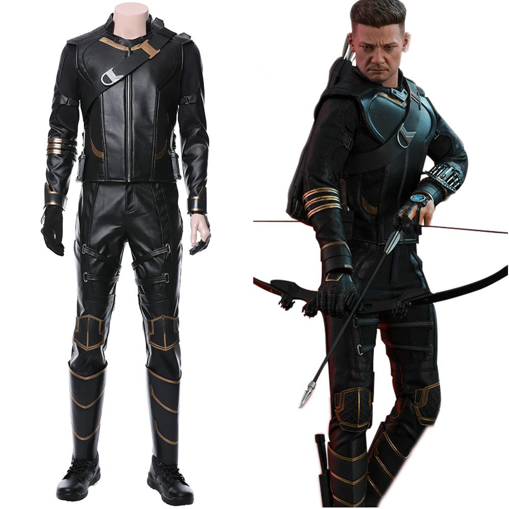 Hawkeye Ronin Costume Avengers 4 Endgame Cosplay Clint Barton Cosplay Outfit Suit Adult Superhero Costume with Arrow Holster Bag