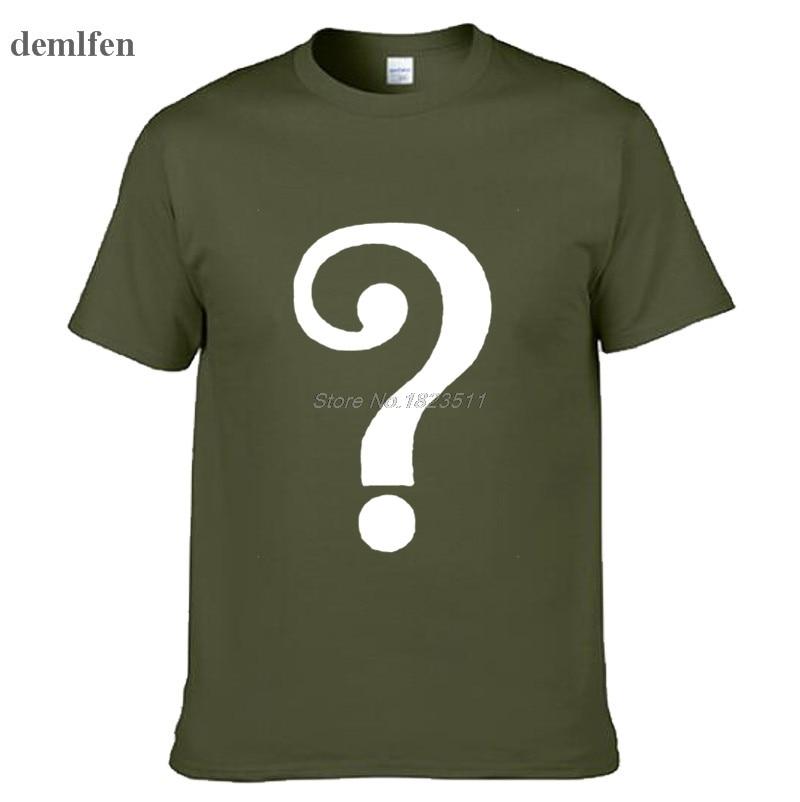 e018d1e9e Mens Casual Movie Batman Riddler Edward Nygma camisetas verde manga corta  de algodón O Neck patrón de impresión camisetas en Camisetas de La ropa de  los ...