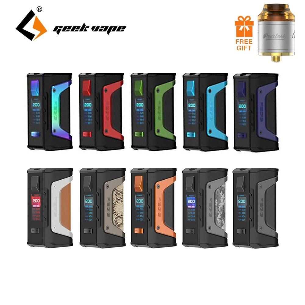Tanque libre GeekVape Aegis leyenda 200 W TC caja MOD nuevo como energía chipset por baterías duales 18650 e cigs no batería Aegis leyenda MOD