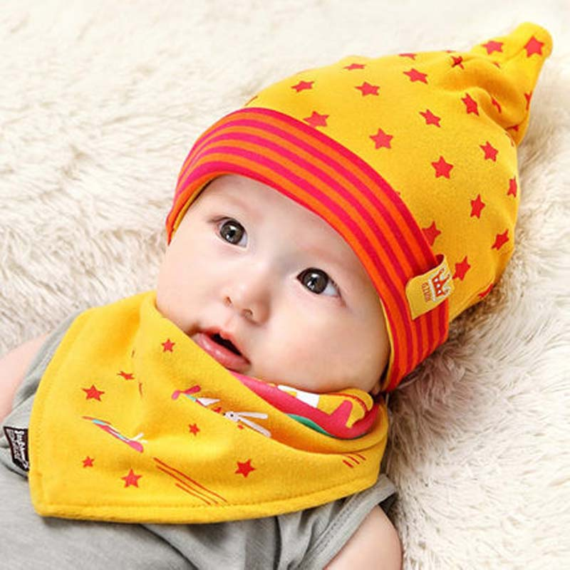 d41ae7ca6a3 Aliexpress.com   Buy Baby Bib Hat Sets Beautiful Star Baby Hat Cotton Scarf  Infant Hats Set Baby Cap Bib Infantil Caps Bebe Beanies Cartoon Bibs from  ...