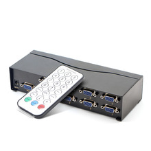 VGA converter, 8 into 1 out of high-definition video switcher, vga shared device, support widescreen, with remote control