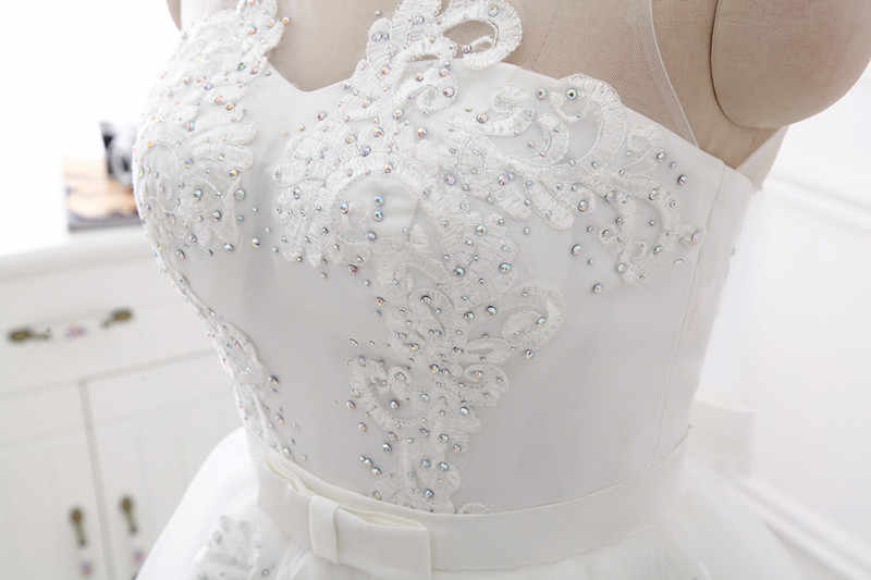 bfd67f5ccc Real Photos Ball Gown Wedding Dresses Plus Size 2019 Trouwjurk Max Big Size  Bridal Gowns For Fat Bridals Vestido-De-Novia