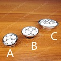 Single Hole/21mm ceramic Kitchen cabinet knob drawer pulls furniture handle with silver flower print