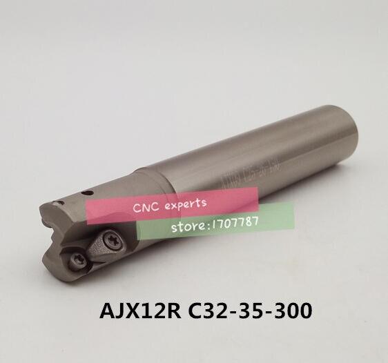 AJX12R C32-35-300 Face End Milling Cutter AJX High feedrate end mill,High Speed Milling Indexable Milling CutterAJX12R C32-35-300 Face End Milling Cutter AJX High feedrate end mill,High Speed Milling Indexable Milling Cutter