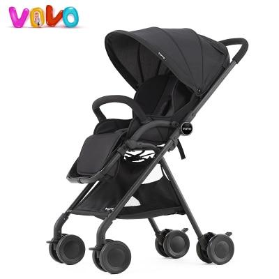 Vovo high landscape pushchair stroller light umbrella car summer baby cart can sit can lie sleeping