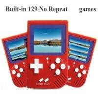 Оптовая продажа Портативный ретро мини портативные игровые консоли 8 бит 2.0 дюймов ЖК дисплей Цвет детские игры Встроенный 129 игр