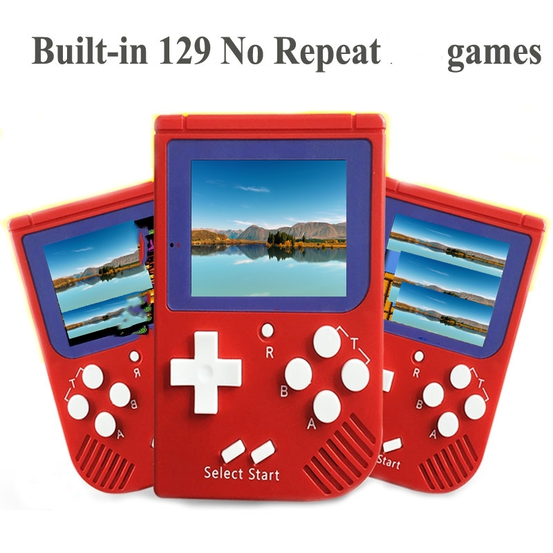 Wholesale Portable Retro Mini Handheld Game Console 8 bit 2.0 inch LCD Color Colour Children Game Player Built-in 129 Games