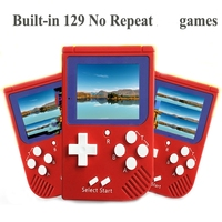 Wholesale Portable Retro Mini Handheld Game Console 8 bit 2.0 inch LCD Color Colour Children Game Player Built in 129 Games