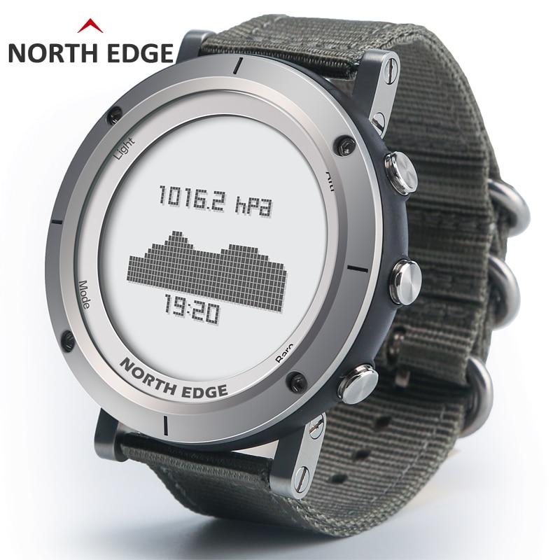 Intelligente orologi Degli Uomini di sport all'aria aperta orologio da polso impermeabile 50 m pesca Altimetro Barometro Termometro Bussola Altitudine ore NORD BORDO
