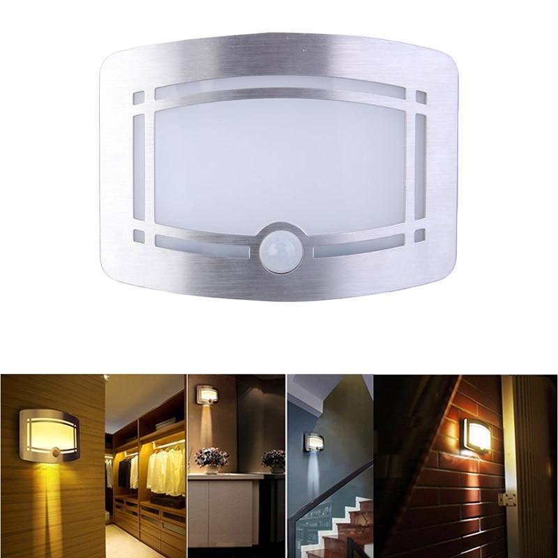 Professional Infrared Induction Wireless Wardrobe lamp Corridor Wall PIR LED Night Light Lamp Motion Sensor Brand lamp