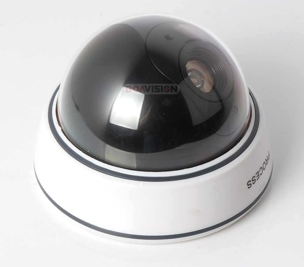 Outdoor indoor Fake Dummy Camera Dome For Security, Fake Security Camera With Illuminating LEDs