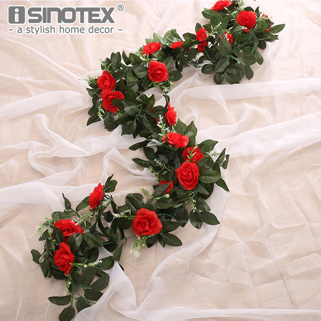 DIY Silk Artificial Flowers Home Wedding Party Colorful Rose Art Craft Decoration 11 Heads Vivid Fake Flowers Leaves Decor 1PCS
