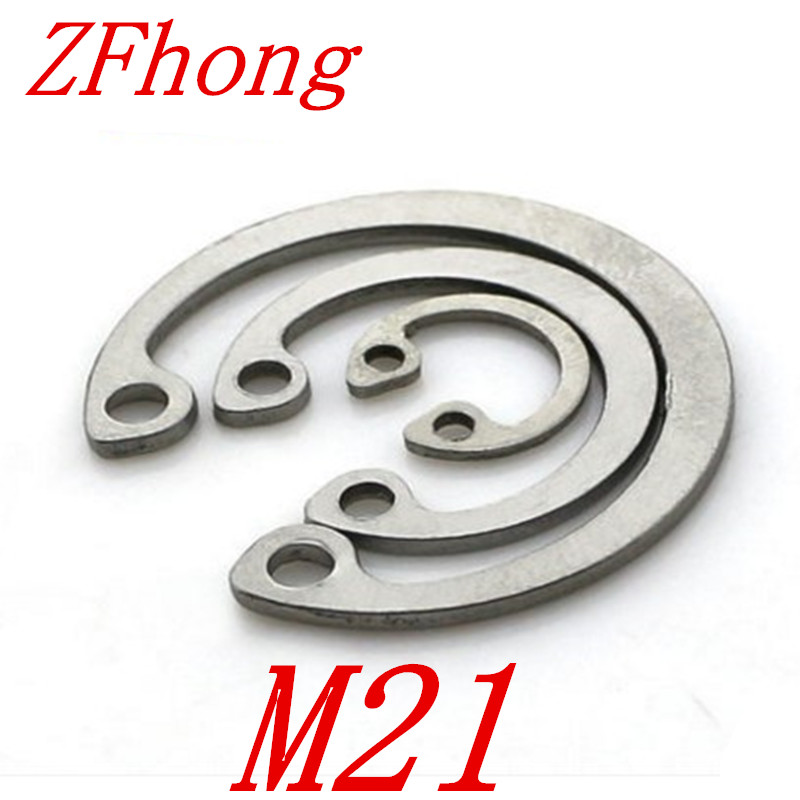 20pcs 304 Stainless Steel SS DIN472 M21 C Type Snap Retaining Ring For 21mm Internal Bore Circlip