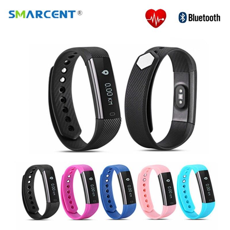 imágenes para SMARCENT ID115 HR Inteligente Bluetooth Banda ID115HR Plus Heart Rate Monitor de Fitness Podómetro Rastreador Smartband ID115 Pulsera Inteligente