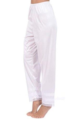 Autumn Women Slip Ladies Girl Night Pyjamas Lace Chiffon Lounge Pants Trousers