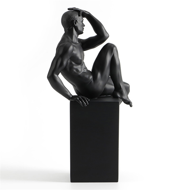 The Thinker Creative Decoration Of European Resin Contemporary Nude Art Masculine Sculpture Home Ornaments In Soft Cafe L3146The Thinker Creative Decoration Of European Resin Contemporary Nude Art Masculine Sculpture Home Ornaments In Soft Cafe L3146