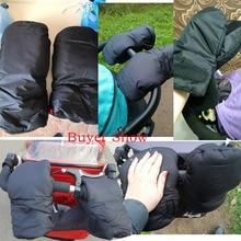 Winter Baby Stroller Gloves Mittens On A Stroller Trolleys Pram  Accessories Gloves For Moms Baby Carriages bebek arabasi