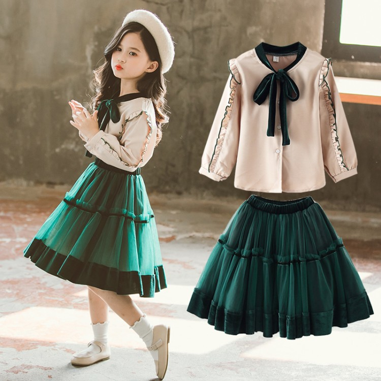 Toddler Girls Spring Clothes Set 2019 Girls Kids Clothes Set 2 Pcs Girls Clothing Sets For Teenage Suits Blouses Shirts + Skirts